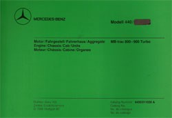 Bildkatalog MB-trac 800 - 900 Turbo 440.172/173 - 11020 - 404001023 Original
