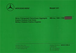 Bildkatalog MB-trac 441.162, 163/1000 - 1100 - 11030 - 404001025 Original