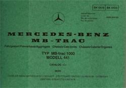Bildkatalog MB-trac 441.161/1000 - 4160 Original - 404001024