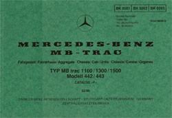Bildkatalog MB-trac 442 443 - 1100/1300/1500 - 2610 - 404001026 Original
