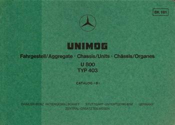 Bildkatalog Unimog 403 U 800 - 1810 - 404001001 Original