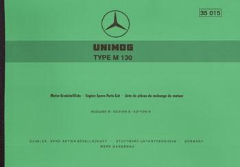 Ersatzteilliste Motor M 130 - 35015 - 204001009