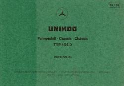 Bildkatalog Unimog 404.0 - 1760 - 404001002 Original