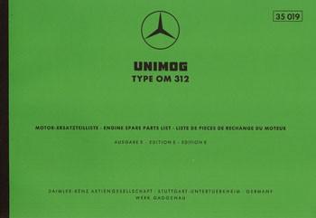 Ersatzteilliste Motor OM 312 - 35019 - 204001011