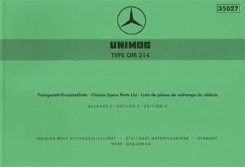 Ersatzteilliste Motor OM 314 - 35027 - 204001020