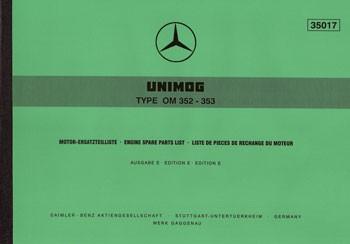 Ersatzteilliste Motor OM 352 353 - 35017 - 204001012
