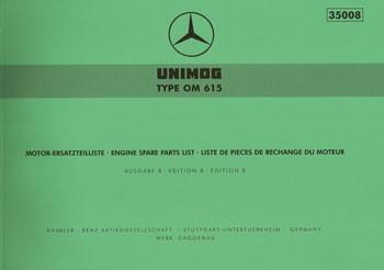 Ersatzteilliste Motor OM 615 - 35008 - 204001013