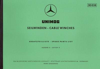 Ersatzteilliste Seilwinde  30038 - 204001016