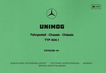 Bildkatalog Unimog 404.1 - 1770 - 404001003