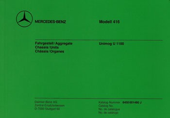 Bildkatalog Unimog 416 / U 1100 - 1480 K - 404001012 Original