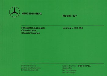 Bildkatalog Unimog 407 / U 600- 650 - 11070 - 404001008 Original