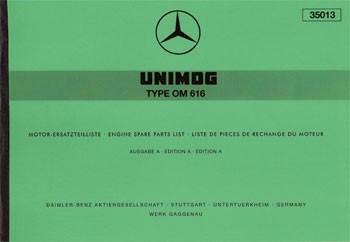 Ersatzteilliste Motor OM 616 - 35013 - 204001014