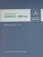 Technical data book Unimog + MB-trac 1979 - 30 402 31 01 Original - 384021001