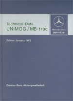 Technical data book Unimog + MB-trac 1983  30 402 31 02 Original - 384021002