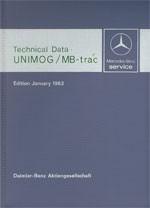 Technical data book Unimog + MB-trac 1983  30 402 31 02 Original - 384021002