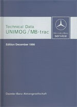 Technical data book Unimog + MB-trac 1986 - 30 402 31 03 Original - 384021003