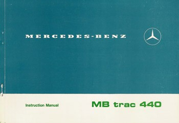 MB-trac Instruction Manual 440 - 30 402 51 21 Original - 314021037