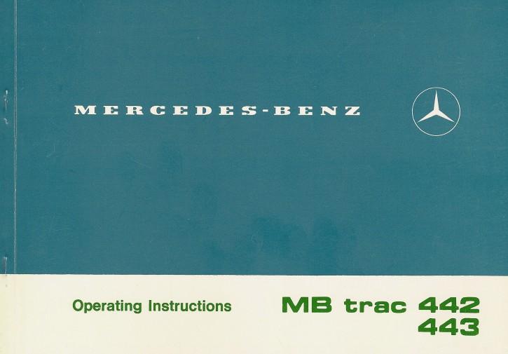 MB-trac Instruction Manual 442/443 - 30 402 51 23 Original - 314021040