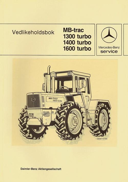 Vedlikeholdsbok MB-trac 1300 1400 1600 turbo - 30 4015 26 24 Original - 364151003