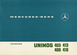 Unimog Instruktionsbok 403 406 413 416 - 30 409 51 04 Original - 354091001