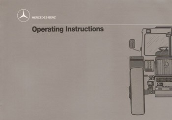 MB-trac Instruction Manual 443 - 30 402 51 35 Original - 314021042