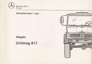 Istruzioni per uso Unimog 417 - 30 406 55 45 - 334051005