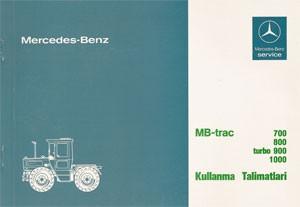 MB-trac Kullanma Talimatlari 440 441 - 30 417 51 25 Original - 354171003