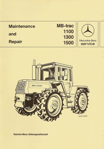 MB-trac 443 Maintenance and Repair - 30 402 26 22 Original - 364021003