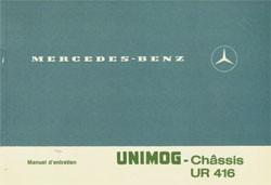 Notice d'entretien Unimog-Châssis UR 416 - 30 403 51 07 Original -  324031008