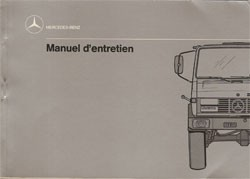 Notice d'entretien Unimog 427 - 7.1989 - 30 403 51 52 Original - 324031014