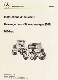 Instructions d'utilisation MB-trac EHR - 30 403 54 04 Original - 324031033