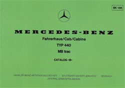 Bildkatalog MB-trac 440 Fahrerhaus - 1860 FH - 404001021