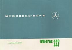 Instruktionsbog MB-trac 440 441 - 30 408 51 24 Original - 354081004