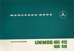 Instruktionsbog Unimog 403 406 413 416 - 30 408 51 04 Original - 354081001
