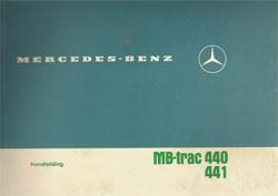 Handleiding MB-trac 440/441 - 30 407 51 24 Original - 354071007