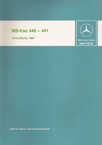 MB-trac 440 441 Introduction into service - 30 402 11 07 Original - 364021005