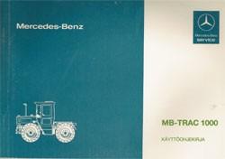 MB-trac Käyttöohjekirja - 30 410 51 27 Original - 354101007