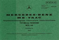 Bildkatalog MB-trac 440 - 700 800 900 - 1880 Original - 404001049