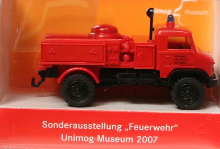 """WIKING-Sondermodell """"Sonderausstellung Feuerwehr Unimog-Museum 2007"""" - 704001017"""