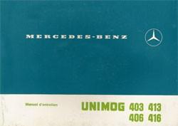 Notice d'entretien Unimog 403 406 413 416 - 30 403 51 12 Original - 324031002