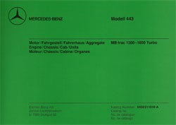 Bildkatalog MB-trac 443 - 1300 - 1600 Turbo - 11010 - 404001027  Original