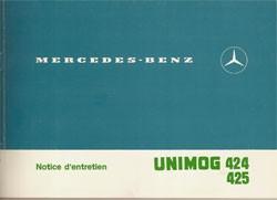 Notice d'entretien Unimog 424 425 - 30 403 51 46 Original - 324031012
