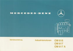 Betriebsanleitung Industriemotoren OM 616, 617, 617 A - 6160 1603 00 Original - 304001049