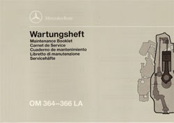 Wartungsheft Industriemotoren OM 364 - 366 LA - 6160 4302 40 Original - 364001028