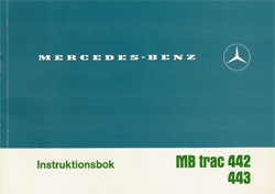 Instruktionsbok MB-trac 442 443 - 30 409 51 23 Original - 354091008