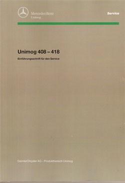 Einführungsschrift Unimog 408 - 418 - 30 400 11 12-02 - 364001003