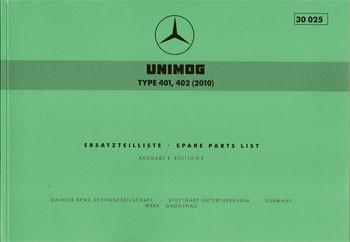 Ersatzteilliste Unimog Type 401 402 (2010) - 30025 - 204001002