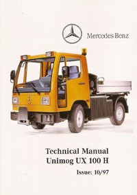 Technical Manual Unimog UX 100 H E - UX 100 H E Original - 314021020