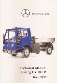 Technical Manual Unimog UX 100 M E - UX 100 M E Originalm - 314021023