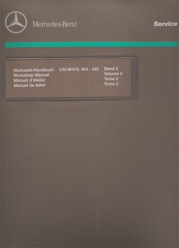 Manuel d'atelier Unimog 424 425 -30 403 21 43 - 124031004